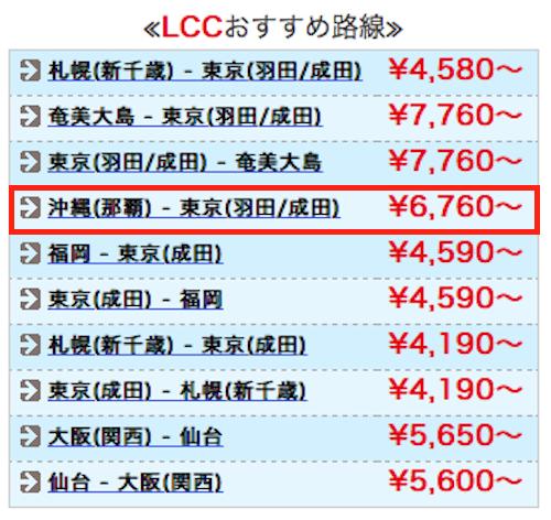 沖縄-東京の航空券が安いエアータウン